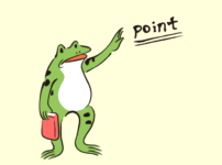 カエル先生のイラスト