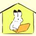 オンライン学習をするウサギのイラスト